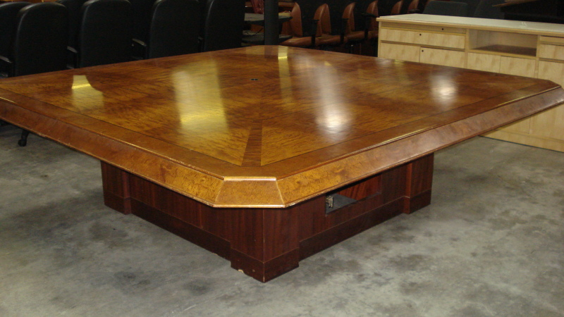 8' Square Conference Table - click to see full size photo