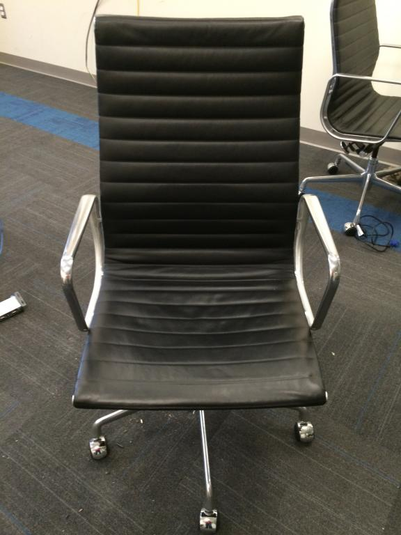 RENTAL Herman Miller HB Leather Eames Chair - click to see full size photo