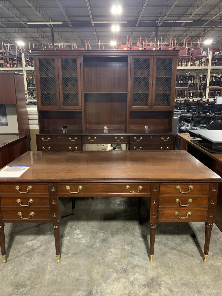 RENTAL Councill Windsor Desk, Cred. & Hutch - click to see full size photo