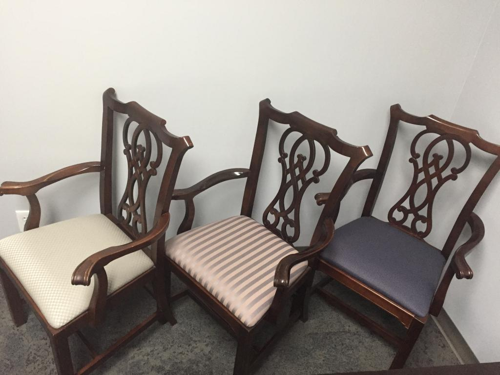 Bernhardt Traditional Wood Back Dining Chairs - click to see full size photo