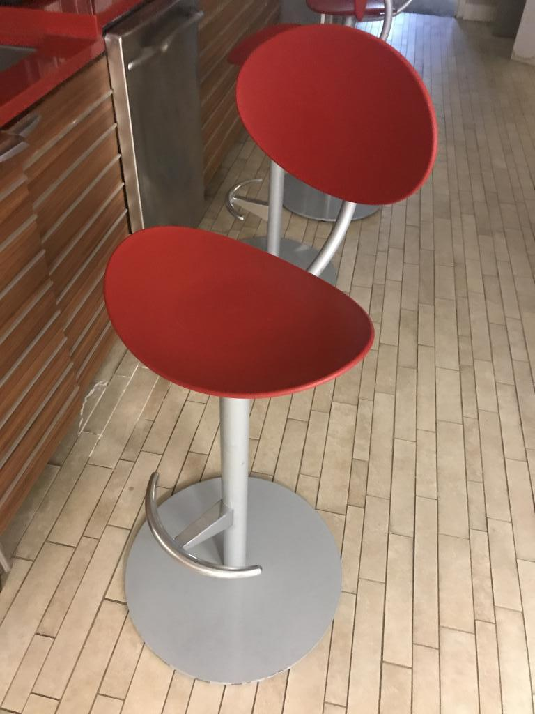Modern Red Stools - click to see full size photo