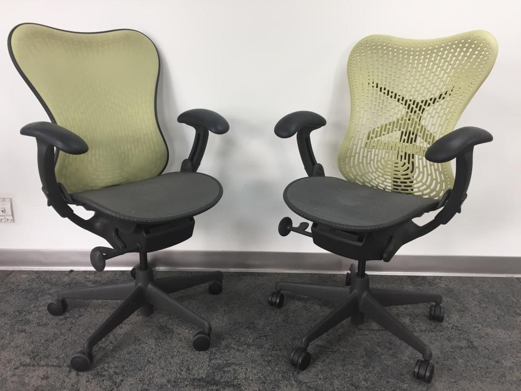 Herman Miller Mirra Green and Gray Task - click to see full size photo
