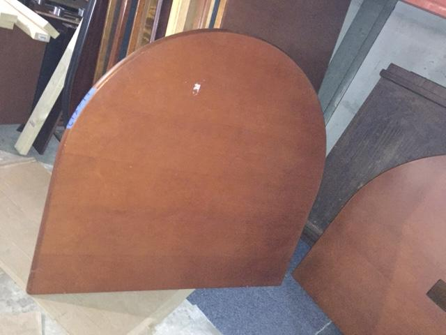 8' Cherry racetrack conference table - click to see full size photo