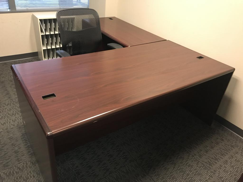 Hon Mahogany Desks - click to see full size photo