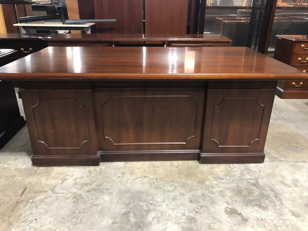 Kimball Traditional Desk and Credenza - click to see full size photo