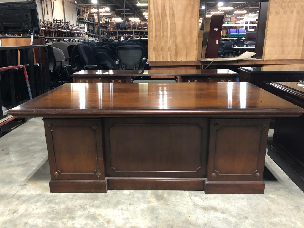 Cherry Stow Davis Desk w/ matching Credenza - click to see full size photo