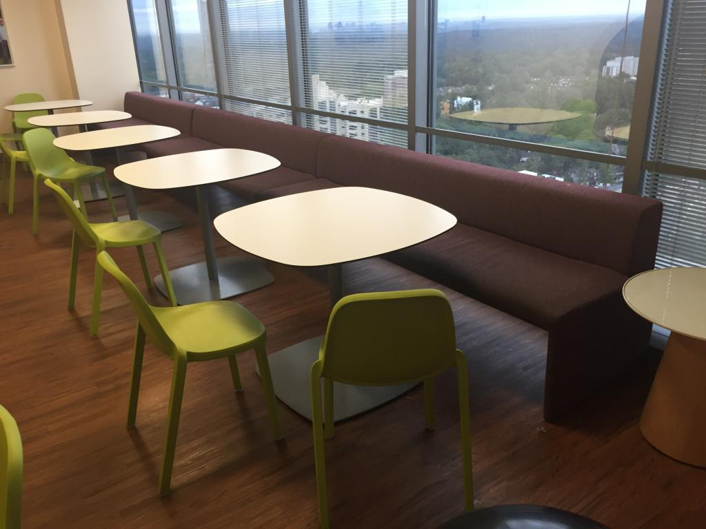 Large Steelcase Turnstone Bench Seating - click to see full size photo