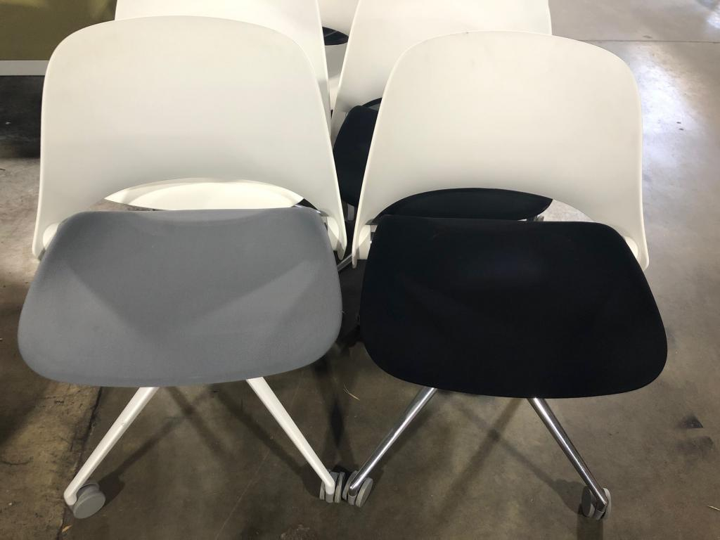 Humanscale TREA Side Chairs on Casters - click to see full size photo