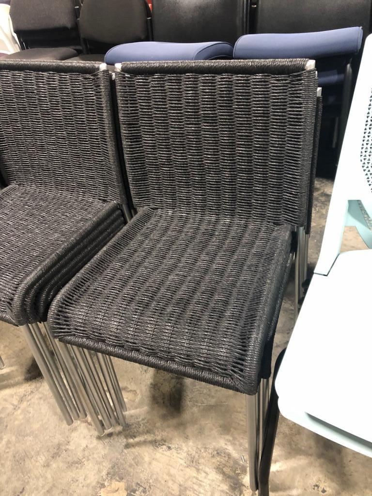 Black Wicker Stack Chairs - click to see full size photo