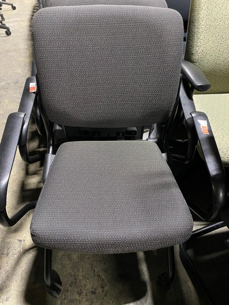 HON Grey Nesting Chairs - click to see full size photo