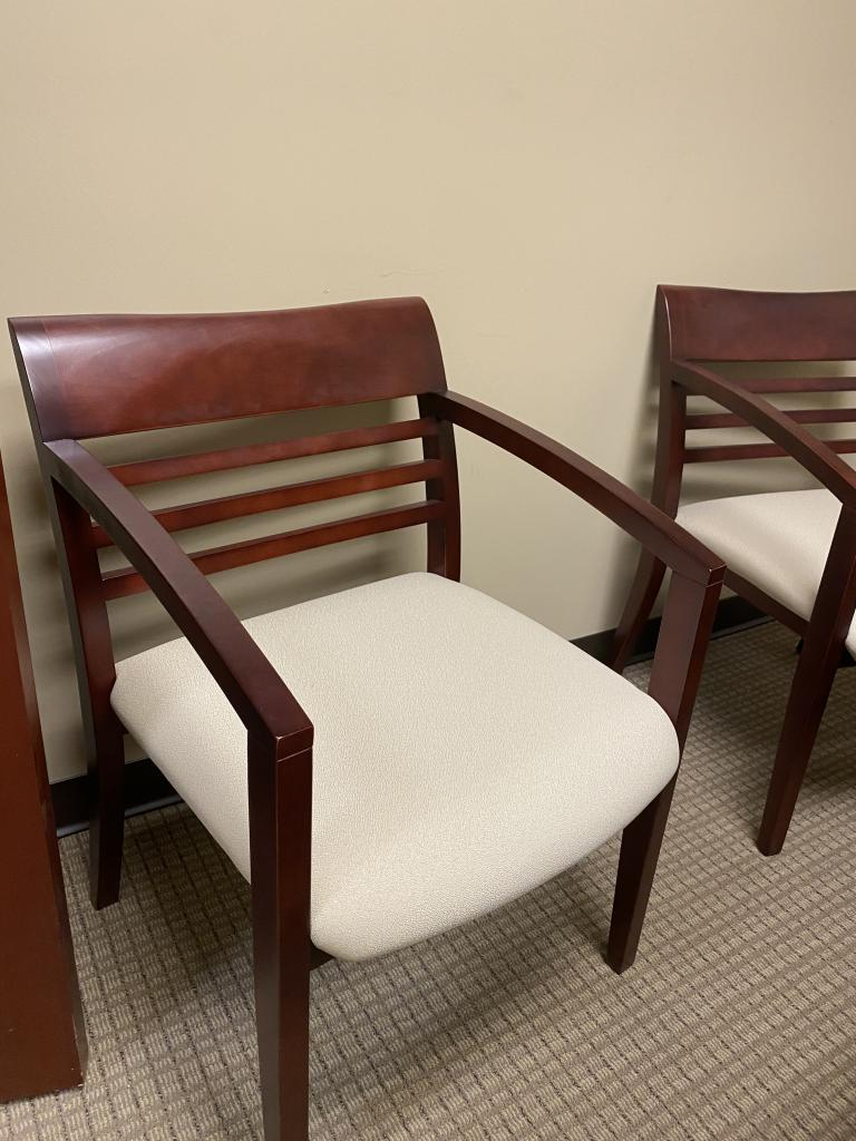 Cherry Wood Side Chairs - click to see full size photo
