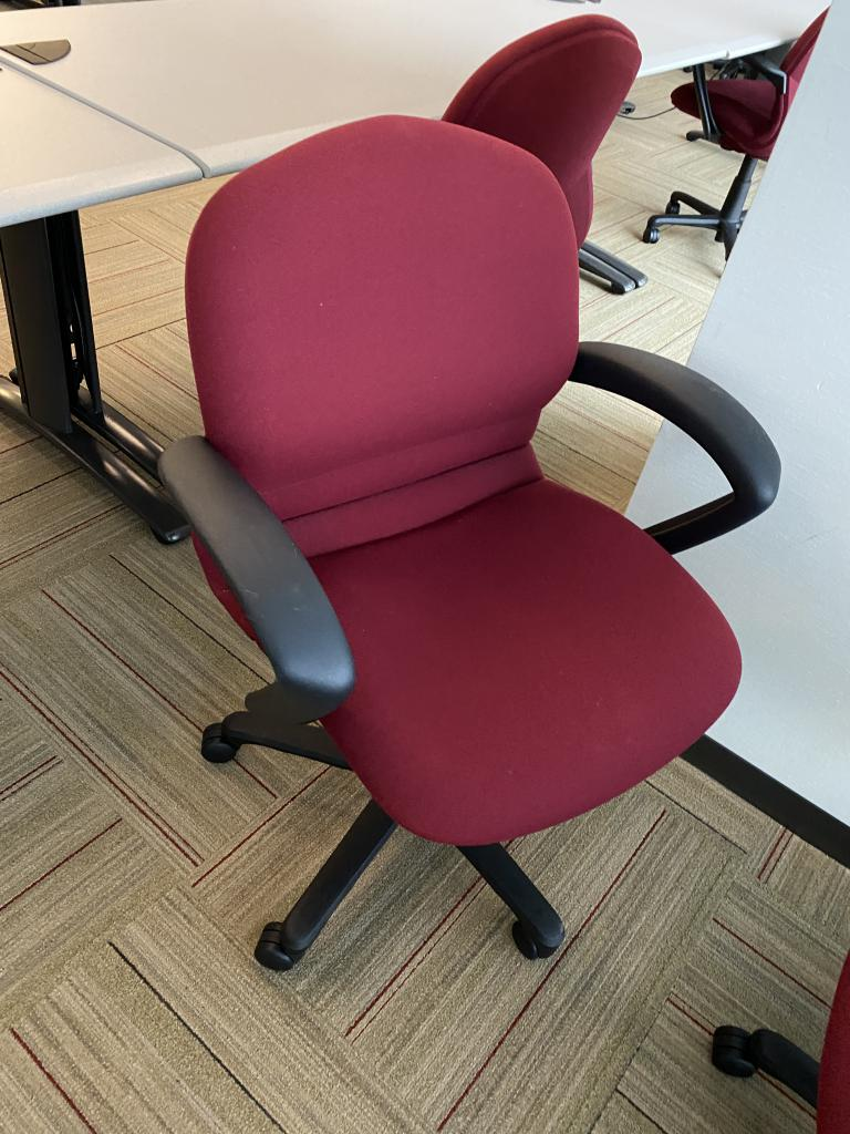 Steelcase Burgundy Rally Conference Chairs - click to see full size photo