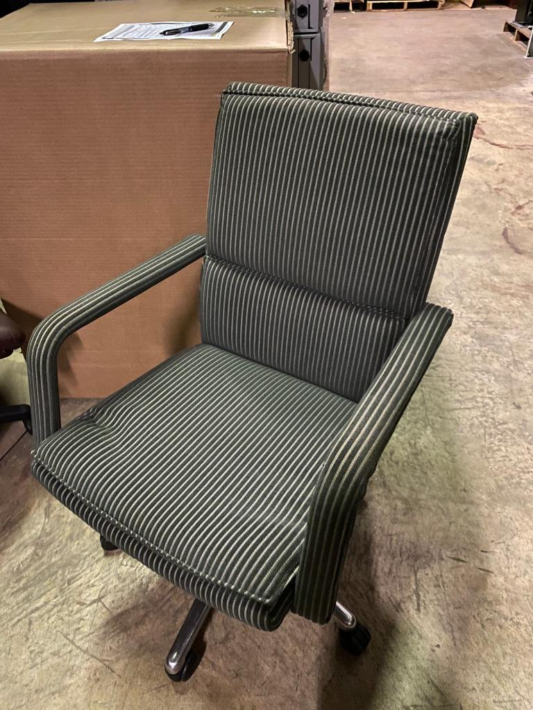 Keilhauer Green Stripe Conference Chair - click to see full size photo