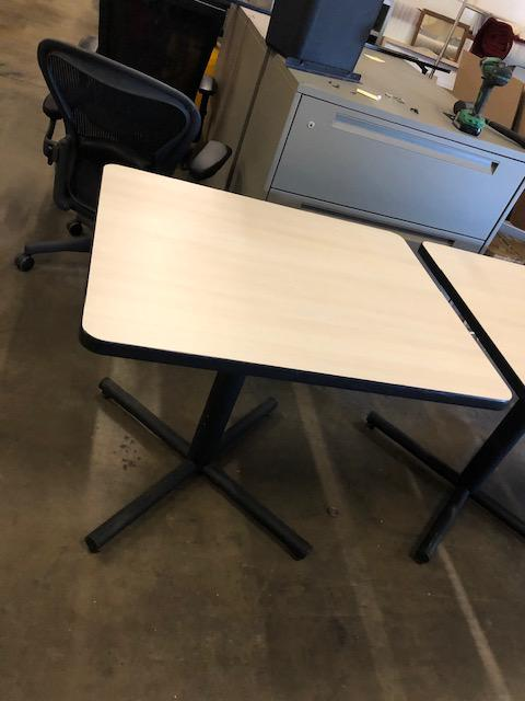 Break room tables w/Birch lam. tops - click to see full size photo